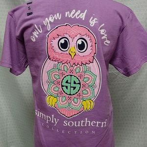 Owl you need is love simply southern T-shirt
